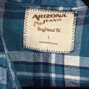 Arizona Jean Company Tops - Arizona Jean boyfriend fit flannel button shirt